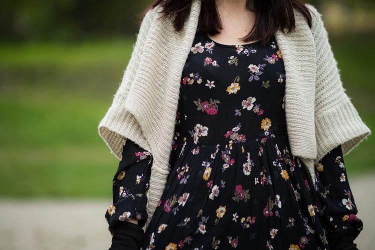 wiosenna sukienka w kwiaty C&A