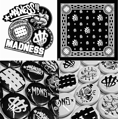 Madness Brand by MAD - Madness Sticker Pack, Big Money Bandana & Button Packs