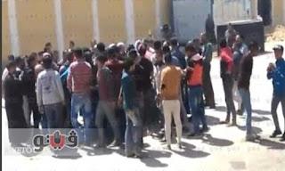 """بالفيديو.. مشادات بين الأمن والمتجمهرين بقنا احتجاجا على اختفاء الطالبة """"مارينا"""""""