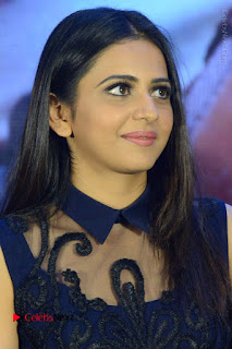 Actress Rakul Preet Singh Stills in Beautiful Blue Long Dress at Dhruva Salute to Audience Event  0047.JPG