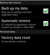 membuka aplikasi terkunci dengan Factory Data Reset
