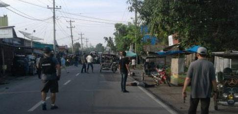 Suasana penangkapan 7 terduga teroris di Tanjungbalai.