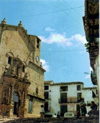 fotos antiguas, Beceite, Beseit, blanco y negro, b&n, blanco, negro, sepia, plaza, iglesia