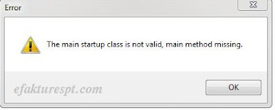 The Main Startup Class Is Not Valid, Main Method Missing