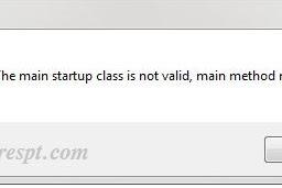 Solusi e-Faktur Tidak Dapat Dibuka Error The Main Startup Class Is Not Valid, Main Method Missing