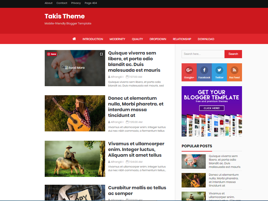 Takis Adsense, SEO Friendly Blogger Template Download Free - Free ...