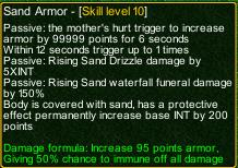 naruto castle defense 6.0 Sand armour detail