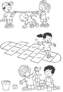 Brincadeiras crianças-amarelinha