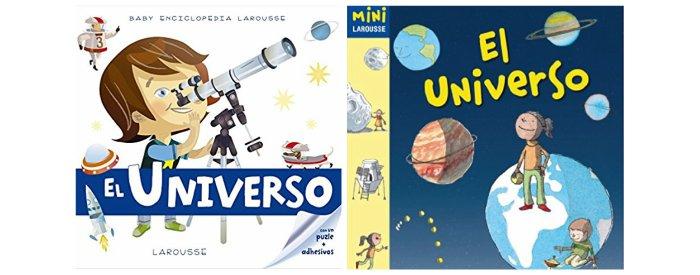 cuentos infantiles, libros conocimientos informativos espacio, universo planetas larousse