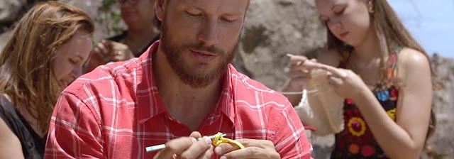 rodrigo hilbert. homem fazendo crochê, tricô