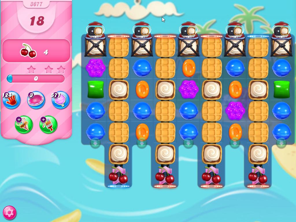Candy Crush Saga level 3677
