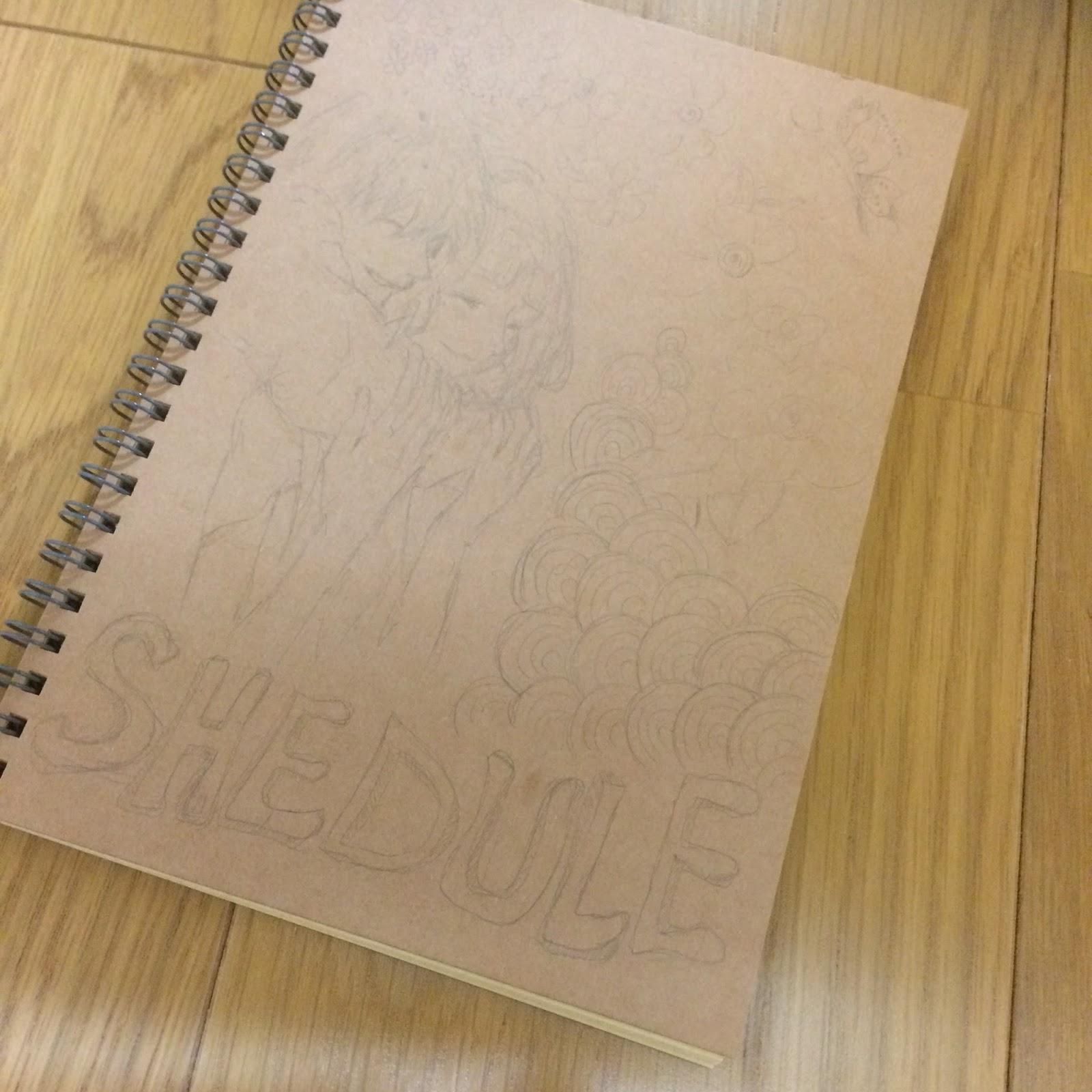 クラフトデスクノート・マンスリー帳をアレンジ2