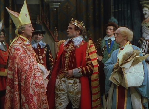 Felix Aylmer, Laurence Olivier and Robert Helpmann in Henry V (1944)
