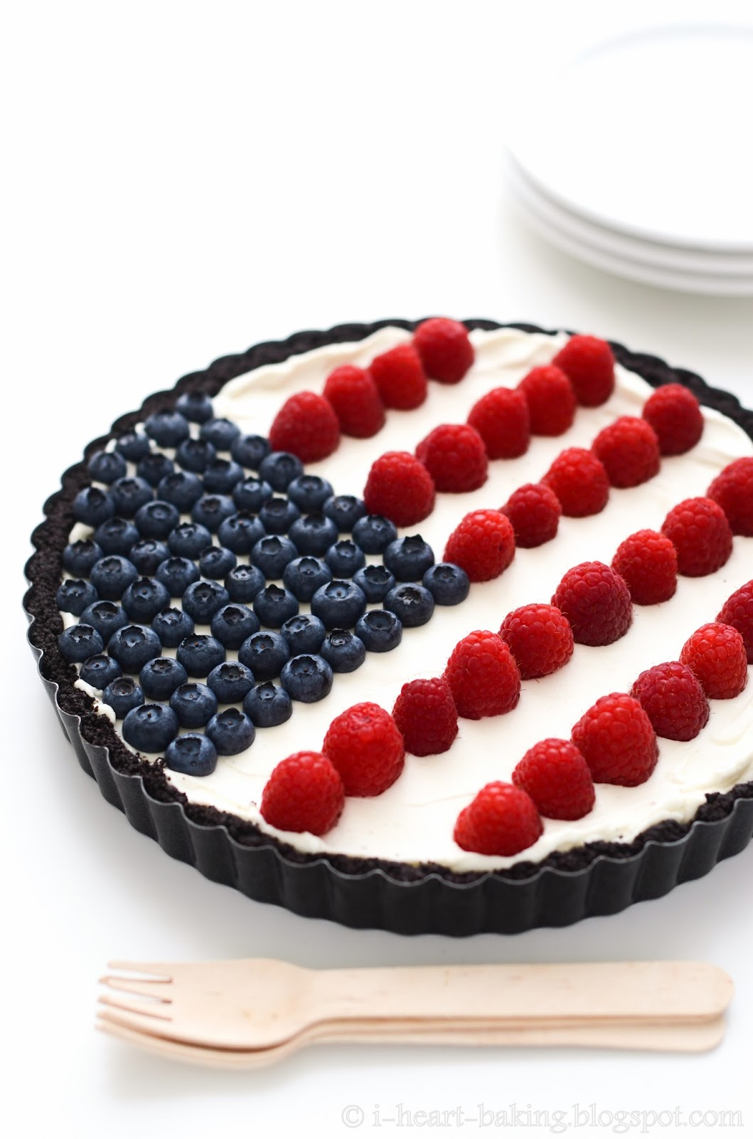 I Heart Baking Flag Tart For Fourth Of July