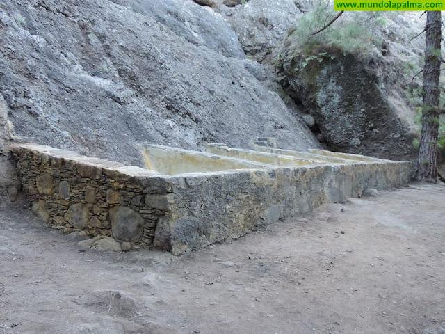 Los lavaderos dela Fuente del Pino (Barranco del Riachuelo. El Paso) rehabilitados y recuperados (Foto: Jorge Pais)