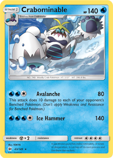 Crabominable Sun and Moon Pokemon Card
