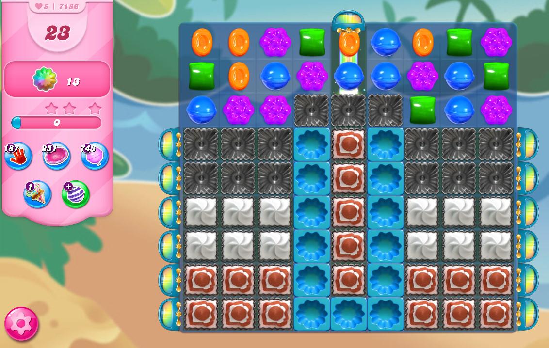 Candy Crush Saga level 7186