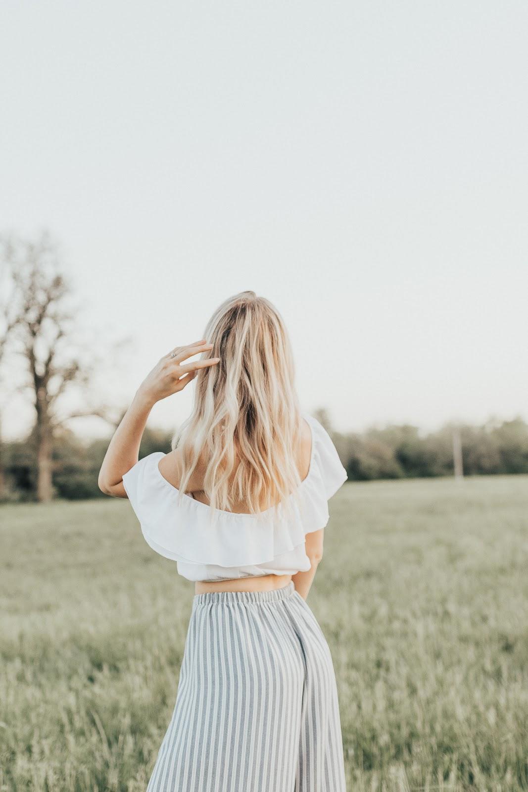white ruffle top | Love, Lenore