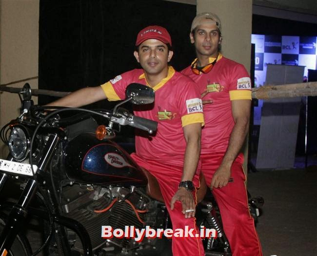 Karan Mehra and Alok Narula at, Krystle D'Souza, Mandira Bedi at BCL Inaugural Match