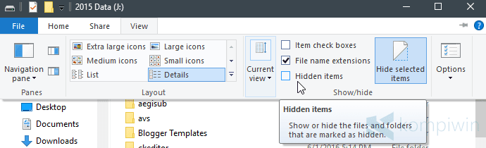 2 Cara Menyembunyikan File/Folder, Gambar, Video, Dokumen, atau File Apa pun di PC/Laptop 1