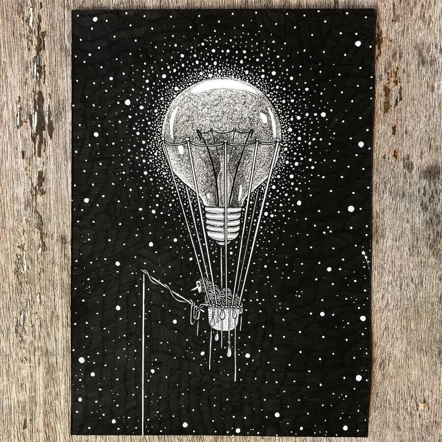 01-Lightbulb-Ezequiel-Abramzon-Surrealism-www-designstack-co