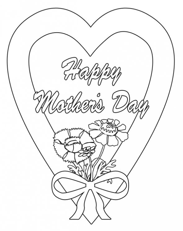 May 10 drawings coloring child coloring for Happy mothers day coloring page
