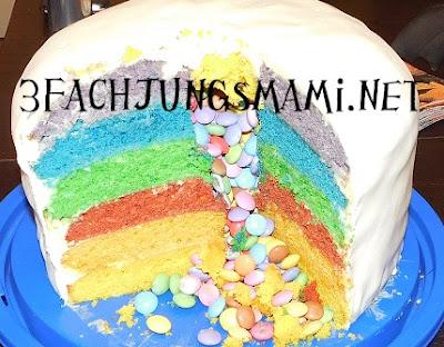 Regenbogenkuchen mit Smarties