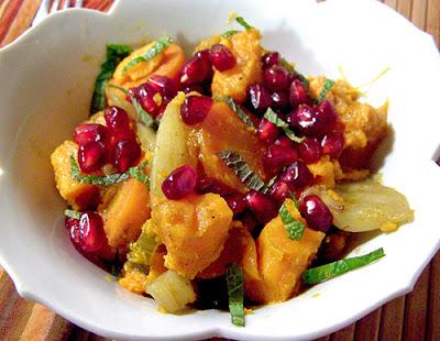 Bowl of Sweet Potato Pomegranate Tagine