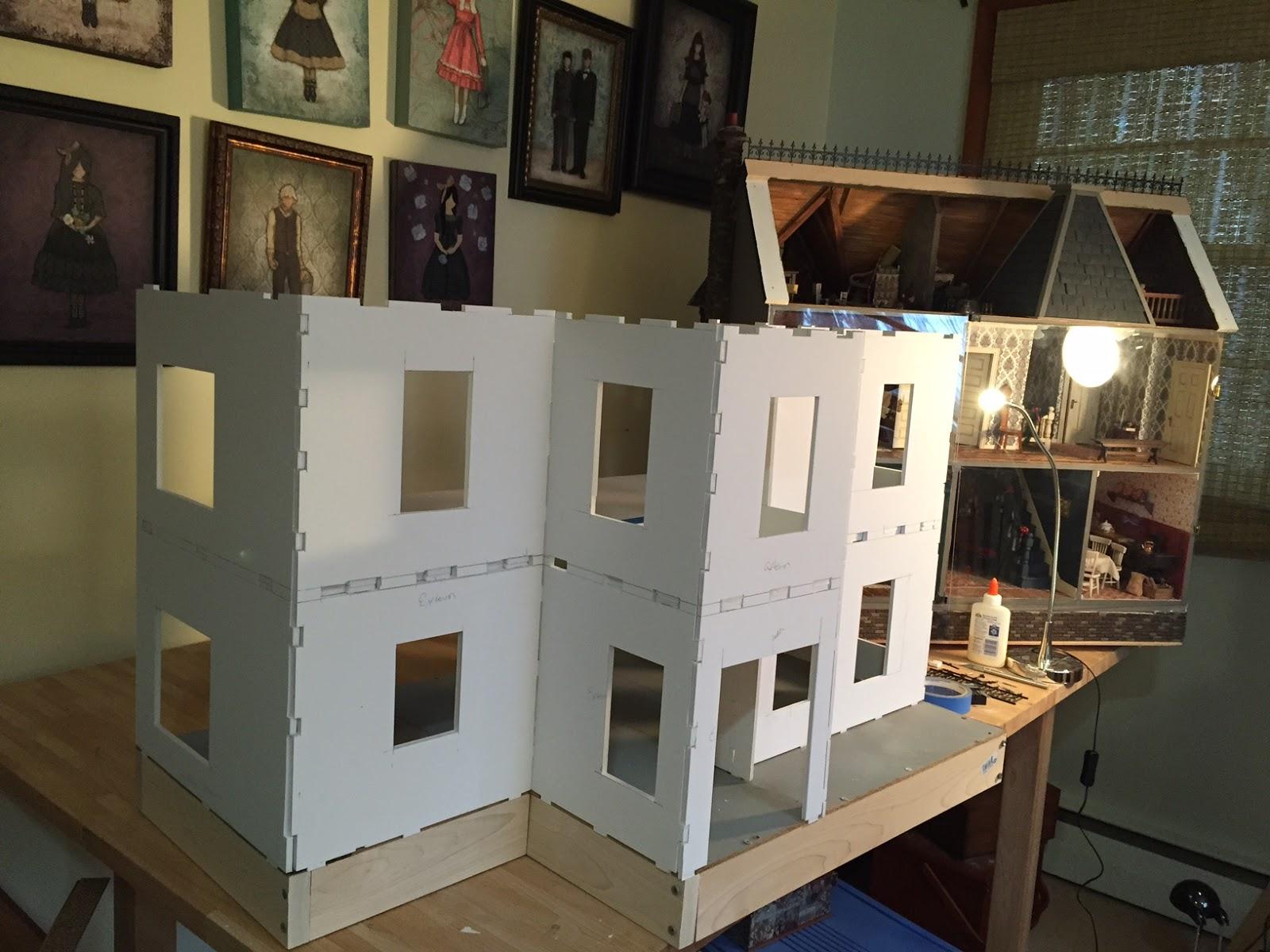 Building A Dollhouse Using Foam Board The Kinfeld