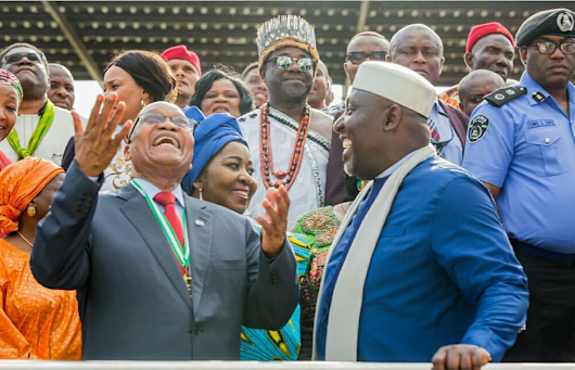 ZUMA: Okorocha Replies Critics, States Why He Invited South African Leader and Benefits to Imo