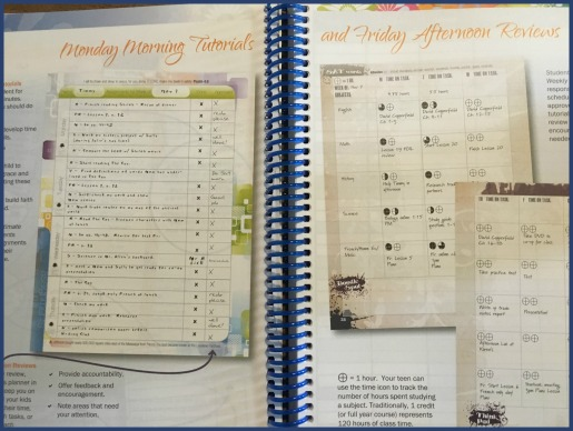 Homeschool planner with instructions for use