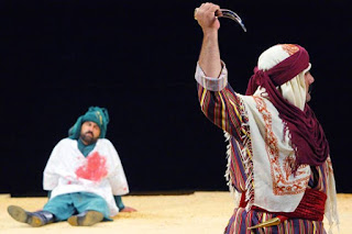 """Scena iš vaidinimo """"The Ta'ziyeh of Imam Hussein"""""""