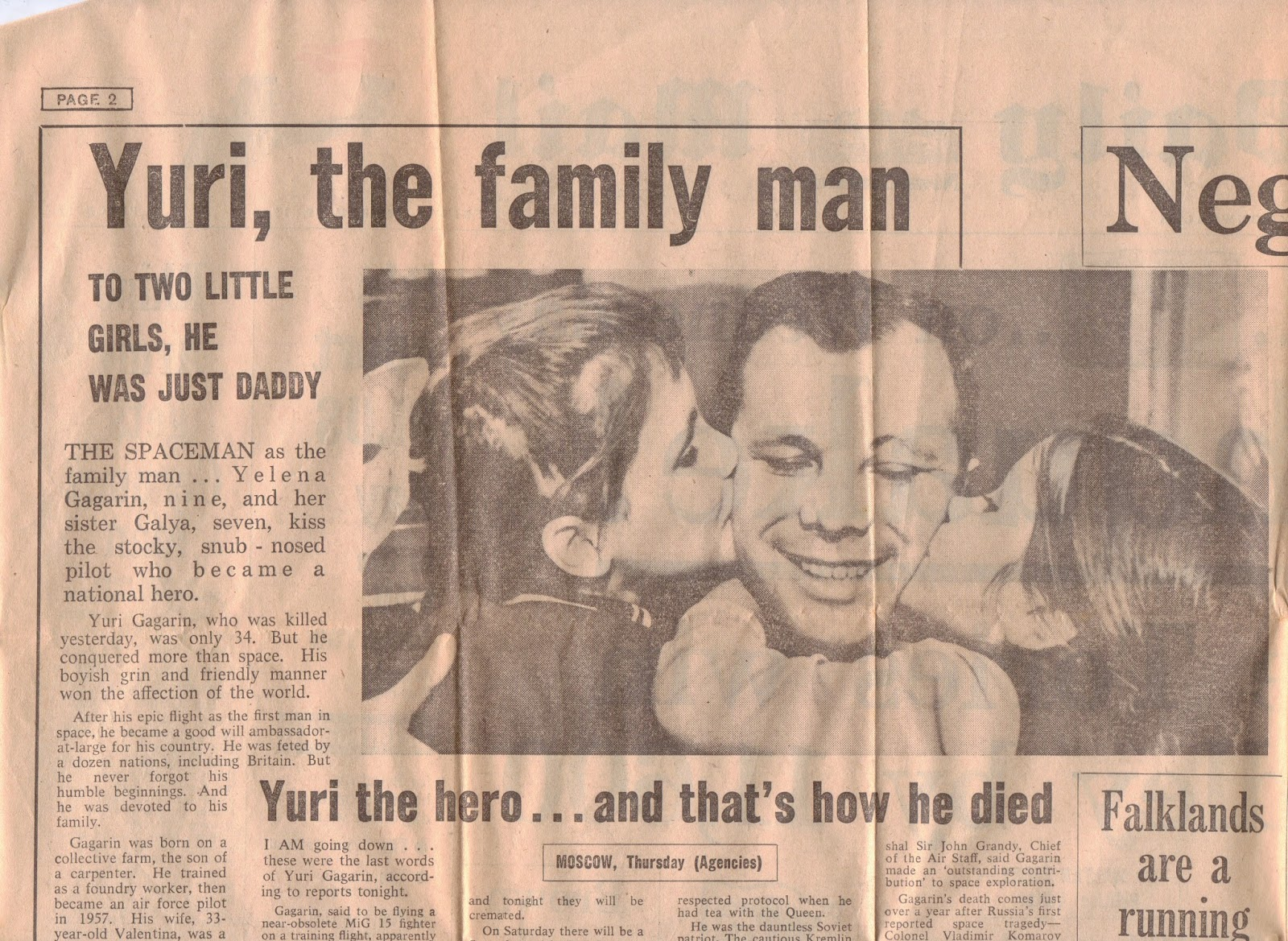 yuri gagarin newspaper - photo #14