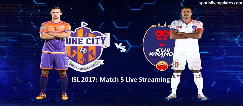 Pune City vs Delhi Dynamos Live Streaming