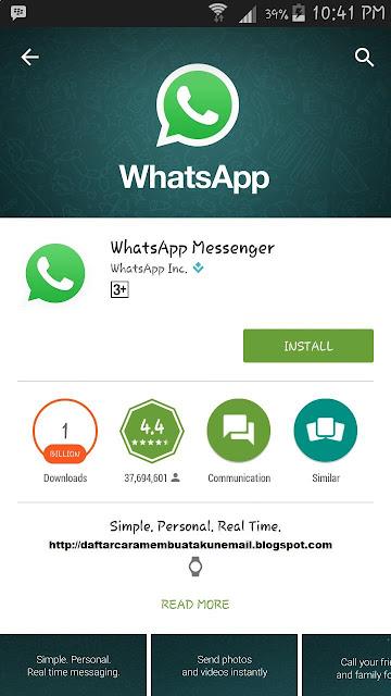 Cara Daftar Whatsapp Terbaru Lewat Android