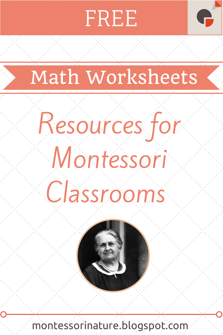 Free Montessori Math Worksheets.   Montessori Nature [ 1102 x 735 Pixel ]