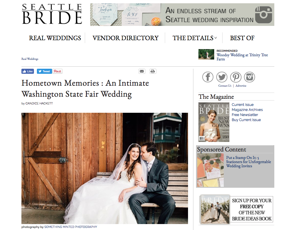 Seattle Wedding Photographer Something Minted published by Seattle Bride Mag