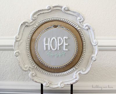 hope embroidery hoop