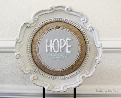 hope embroidery hoop