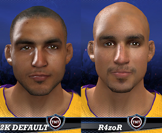 NBA 2K14 Robert Sacre Cyberface Mod
