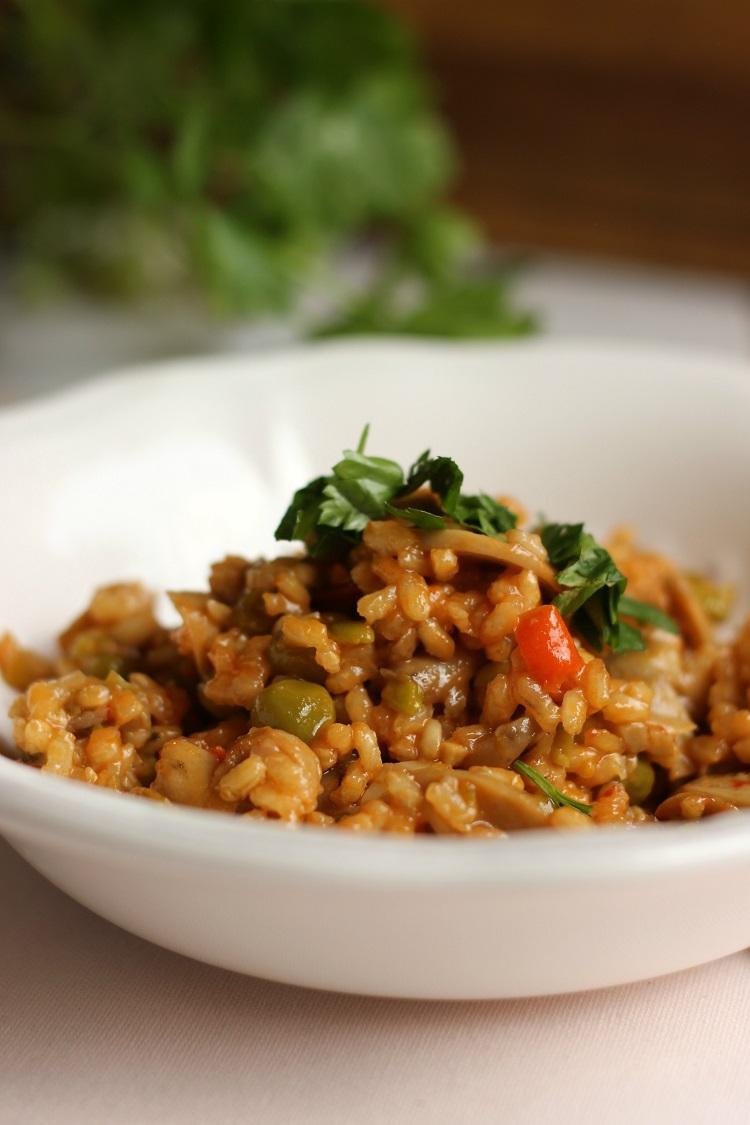 Arroz picante con verduras