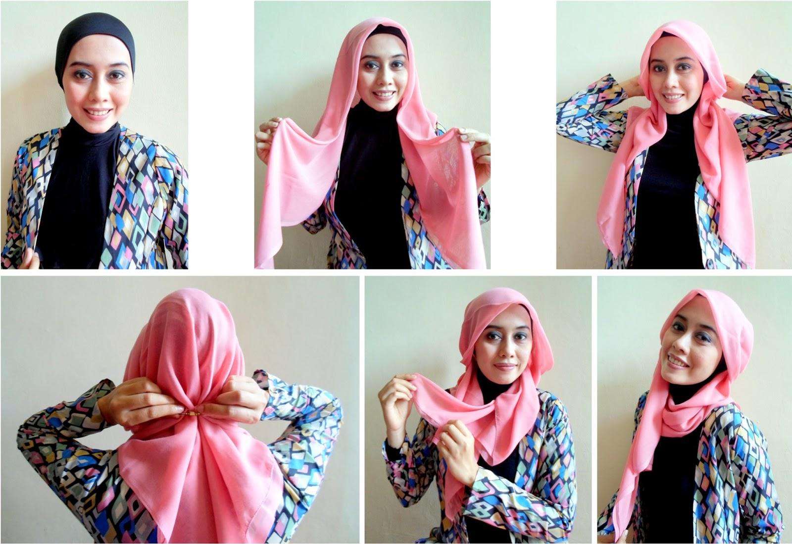 21 Gambarnya Hijab Tutorial Segi Empat Easy Untuk Kalian Tutorial
