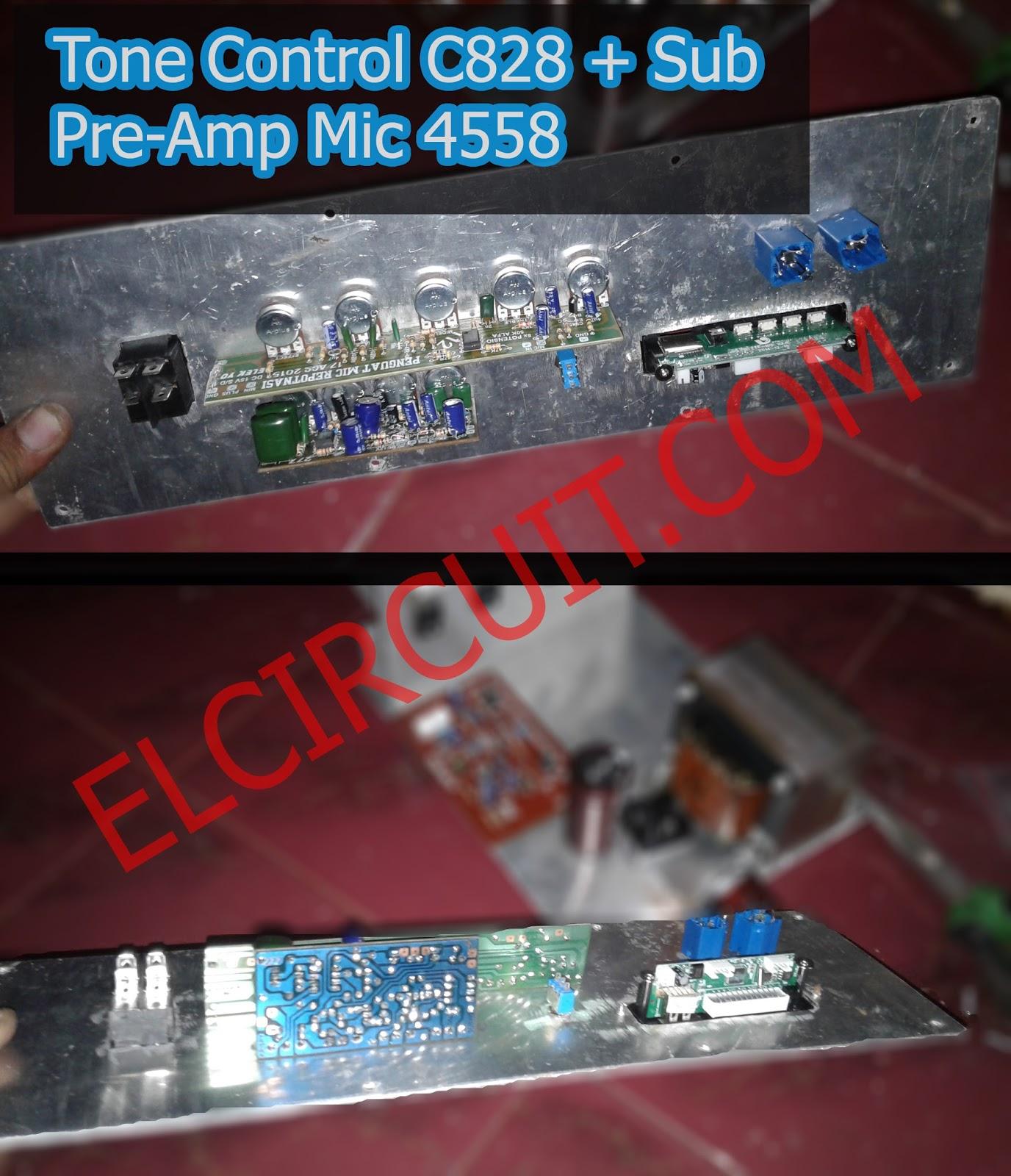 Mic Pre Amplifier using IC 4558 - Electronic Circuit