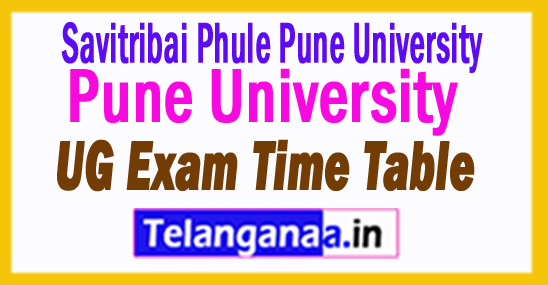 Pune University UG Exam Time Table 2018