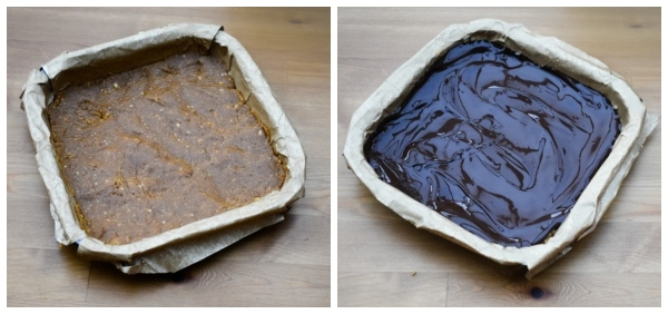 Easy Peanut Butter Bars in baking trays