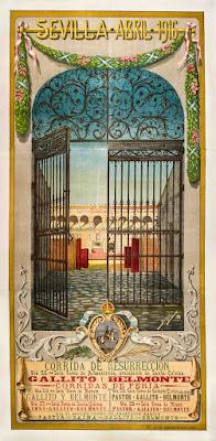 Cartel Taurino de las Fiestas de Semana Santa y Feria de Sevilla 1916