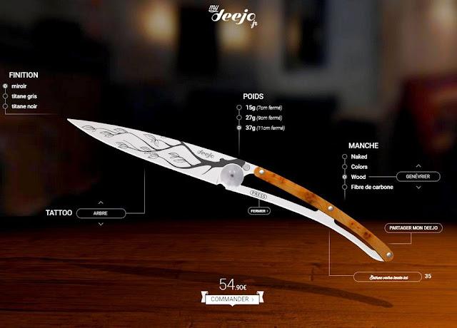 MyDeejo conception et personnalisation de son couteau - Idées cadeaux hommes pour Noël - Blog