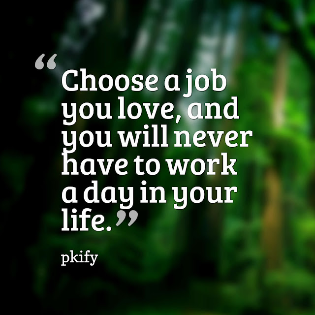 Choose a Job You Love, and You Will Never Have to Work a Day in Your Life Life Quotes