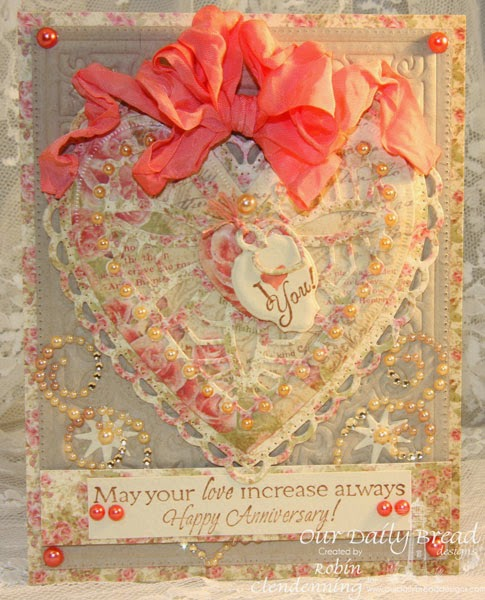 Our Daily Bread Designs, All Occasion Sentiments, Bless Your Heart, Mini Tags, Flourished Star Pattern, Ornate Hearts, Spendorous Stars, Blushing Rose Paper Collection, Designed by Robin Clendenning