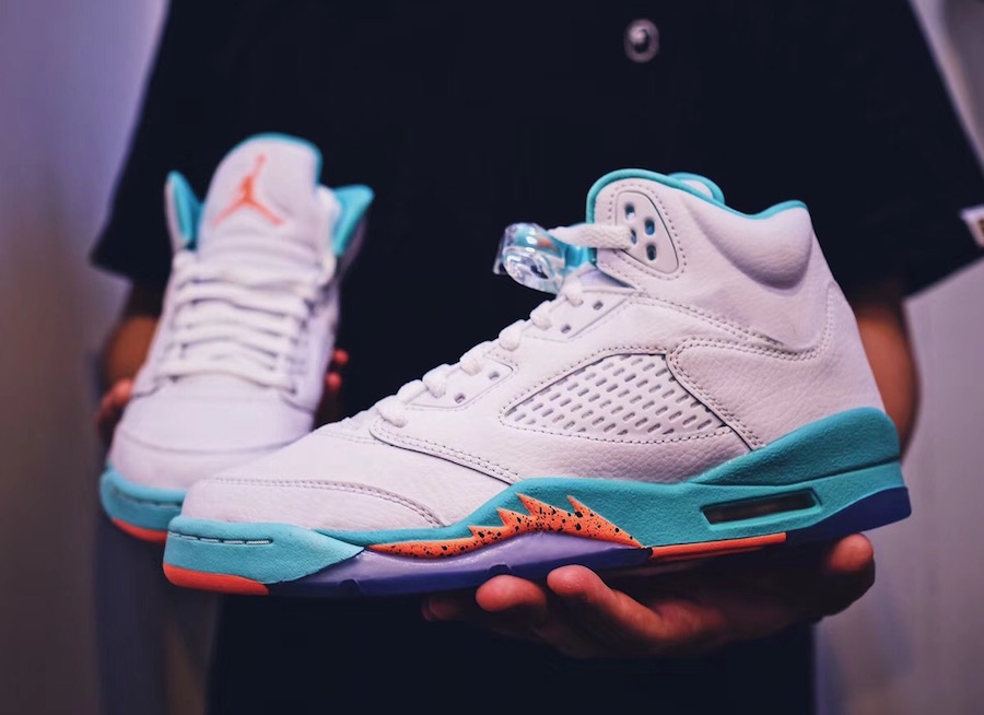 f2c2c87b81e6 This particular Air Jordan 5 Light Aqua colorway was first previewed back  in July 2017. For Summer 2018